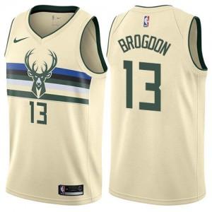 Nike NBA Maillot De Malcolm Brogdon Bucks Blanc laiteux City Edition No.13 Enfant