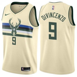 Nike NBA Maillot De DiVincenzo Bucks City Edition Enfant Blanc laiteux No.9