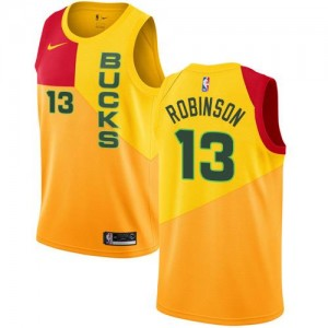 Nike NBA Maillots Glenn Robinson Bucks #13 Jaune City Edition Enfant