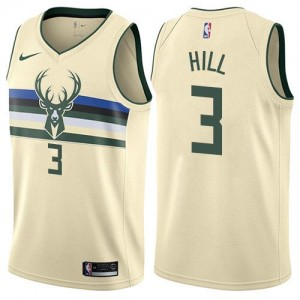 Maillots De Hill Milwaukee Bucks Blanc laiteux City Edition Enfant Nike #3
