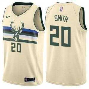 Nike Maillots Basket Jason Smith Milwaukee Bucks City Edition Blanc laiteux Homme #20