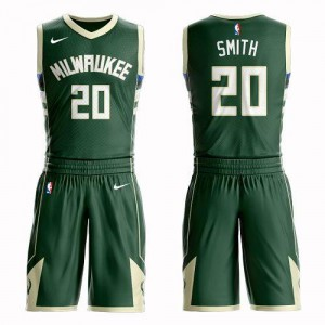Nike Maillot Basket Smith Bucks Suit Icon Edition vert Homme #20