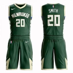 Nike NBA Maillots Jason Smith Milwaukee Bucks Enfant Suit Icon Edition #20 vert