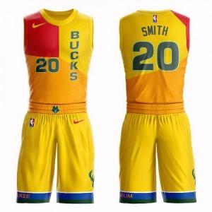 Nike Maillot Jason Smith Bucks Enfant Suit City Edition Jaune No.20
