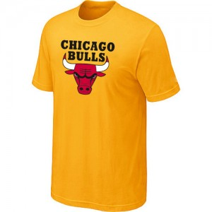 NBA Tee-Shirt De Chicago Bulls Homme Jaune Big & Tall Short Sleeve