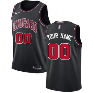 Nike NBA Personnalisable Maillot Basket Chicago Bulls Statement Edition Homme Noir