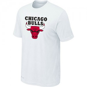 NBA T-Shirt Basket Bulls Blanc Homme Big & Tall Short Sleeve