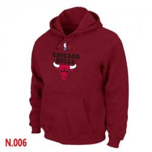 NBA Hoodie De Chicago Bulls Pullover Homme Gris foncé