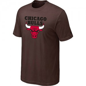 Tee-Shirt De Basket Bulls brun Homme Big & Tall Short Sleeve
