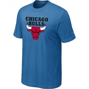 NBA T-Shirt De Chicago Bulls Homme Bleu clair Big & Tall Short Sleeve