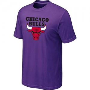 T-Shirt De Bulls Violet Big & Tall Short Sleeve Homme