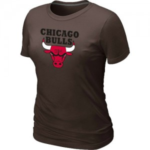 Tee-Shirt Basket Bulls Big & Tall Primary Logo Femme brun
