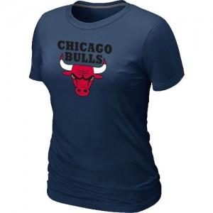 Tee-Shirt De Basket Bulls Femme Big & Tall Primary Logo bleu marine