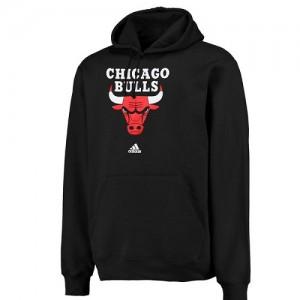 Adidas Sweat à capuche De Basket Chicago Bulls Homme Logo Pullover Sweatshirt Noir