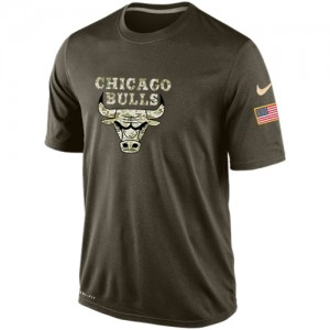 Nike T-Shirt Chicago Bulls Olive Salute To Service KO Performance Dri-FIT Homme