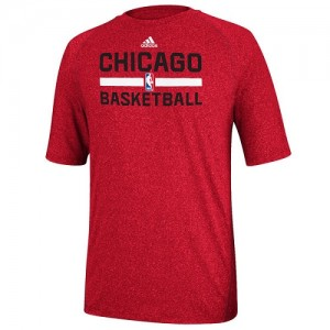 Adidas Tee-Shirt Bulls Homme Red Practice Performance