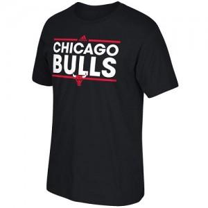 Adidas NBA T-Shirt De Basket Bulls Dassler Homme Noir