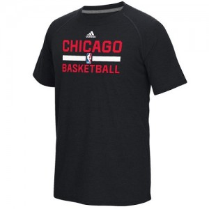 Tee-Shirt Basket Chicago Bulls Homme Noir On-Court Climalite Ultimate Adidas
