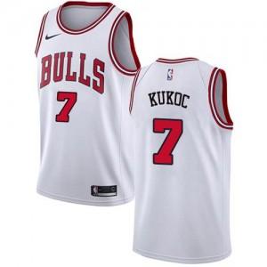 Nike NBA Maillot Basket Toni Kukoc Bulls #7 Association Edition Enfant Blanc