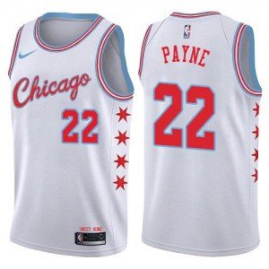 Nike Maillots De Payne Chicago Bulls No.22 Homme Blanc City Edition