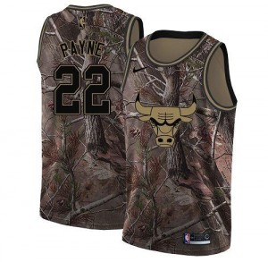 Maillots De Basket Cameron Payne Bulls Realtree Collection #22 Homme Nike Camouflage