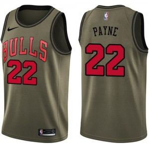 Maillots De Payne Bulls vert Salute to Service Homme Nike No.22