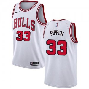 Nike NBA Maillots Scottie Pippen Chicago Bulls Enfant Association Edition #33 Blanc