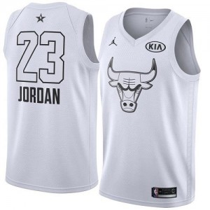 Nike NBA Maillots De Jordan Chicago Bulls Enfant 2018 All-Star Game Blanc No.23