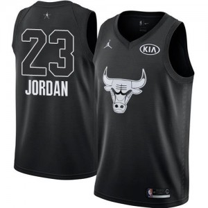 Nike Maillot De Michael Jordan Chicago Bulls Noir 2018 All-Star Game No.23 Enfant