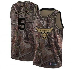 Nike NBA Maillot John Paxson Bulls No.5 Realtree Collection Camouflage Homme