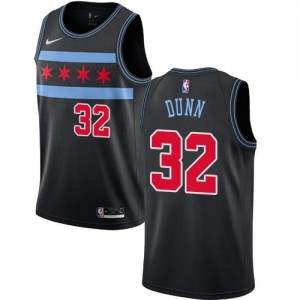 Nike Maillot Dunn Bulls No.32 Noir City Edition Enfant