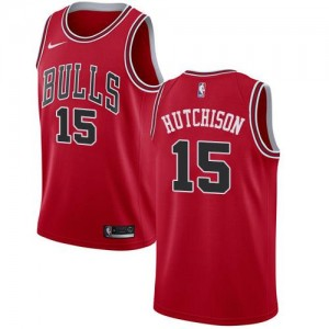 Nike NBA Maillots Hutchison Bulls Homme #15 Rouge Icon Edition