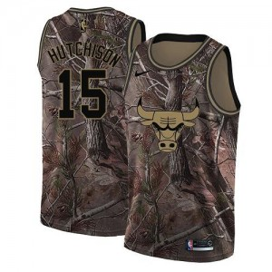 Nike Maillots De Hutchison Bulls #15 Realtree Collection Enfant Camouflage