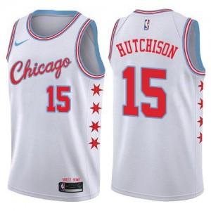 Nike Maillots De Chandler Hutchison Bulls Blanc City Edition Enfant #15