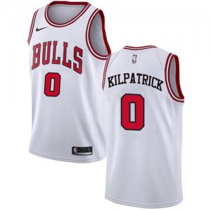 Maillot De Basket Kilpatrick Chicago Bulls Enfant Association Edition Blanc Nike No.0