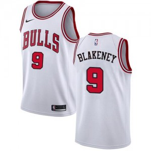 Maillot De Blakeney Chicago Bulls Blanc Association Edition Nike Homme #9