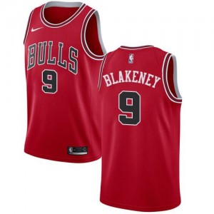 Nike NBA Maillots Basket Antonio Blakeney Chicago Bulls Icon Edition Rouge No.9 Homme