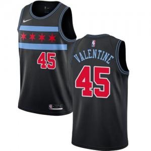 Nike Maillot De Valentine Bulls Enfant #45 Noir City Edition