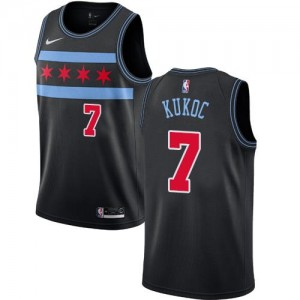 Nike NBA Maillot Kukoc Bulls Noir City Edition Enfant #7