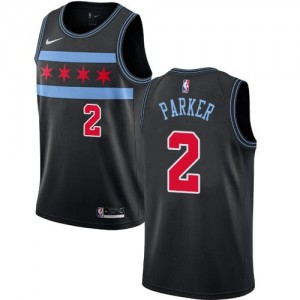 Nike Maillot Basket Jabari Parker Chicago Bulls No.2 Noir City Edition Enfant