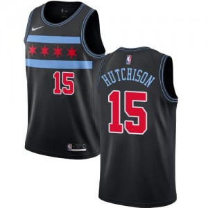 Nike NBA Maillot Hutchison Chicago Bulls City Edition Enfant Noir No.15