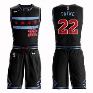 Nike Maillots De Basket Cameron Payne Bulls Homme #22 Noir Suit City Edition