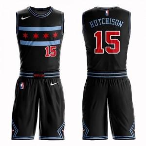 Nike NBA Maillots De Hutchison Bulls No.15 Suit City Edition Enfant Noir