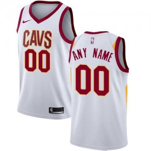 Nike NBA Maillot Personnaliser Cavaliers Blanc Homme Association Edition