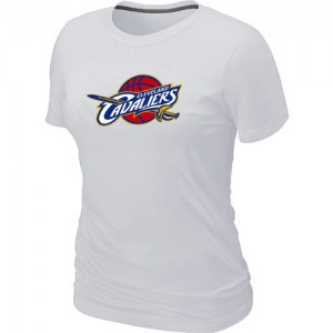 NBA T-Shirt De Cleveland Cavaliers Femme Blanc Big & Tall Primary Logo