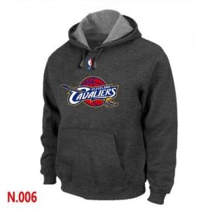NBA Sweat à capuche Basket Cleveland Cavaliers Gris foncé Homme Pullover