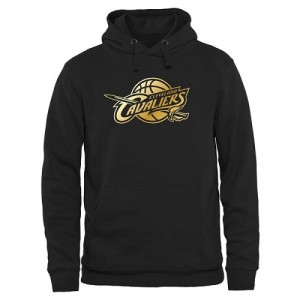 NBA Sweat à capuche Cavaliers Gold Collection Pullover Noir Homme
