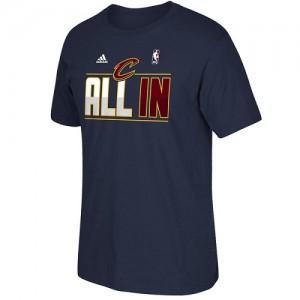 T-Shirt De Basket Cavaliers Adidas Homme bleu marine 2015 Playoffs Slogan