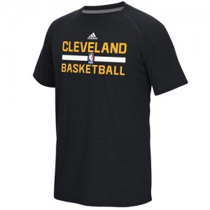 Tee-Shirt De Basket Cavaliers Adidas Homme Noir On-Court Climalite Ultimate