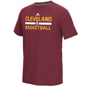 T-Shirt De Basket Cavaliers Adidas On-Court Climalite Ultimate Bourgogne Homme